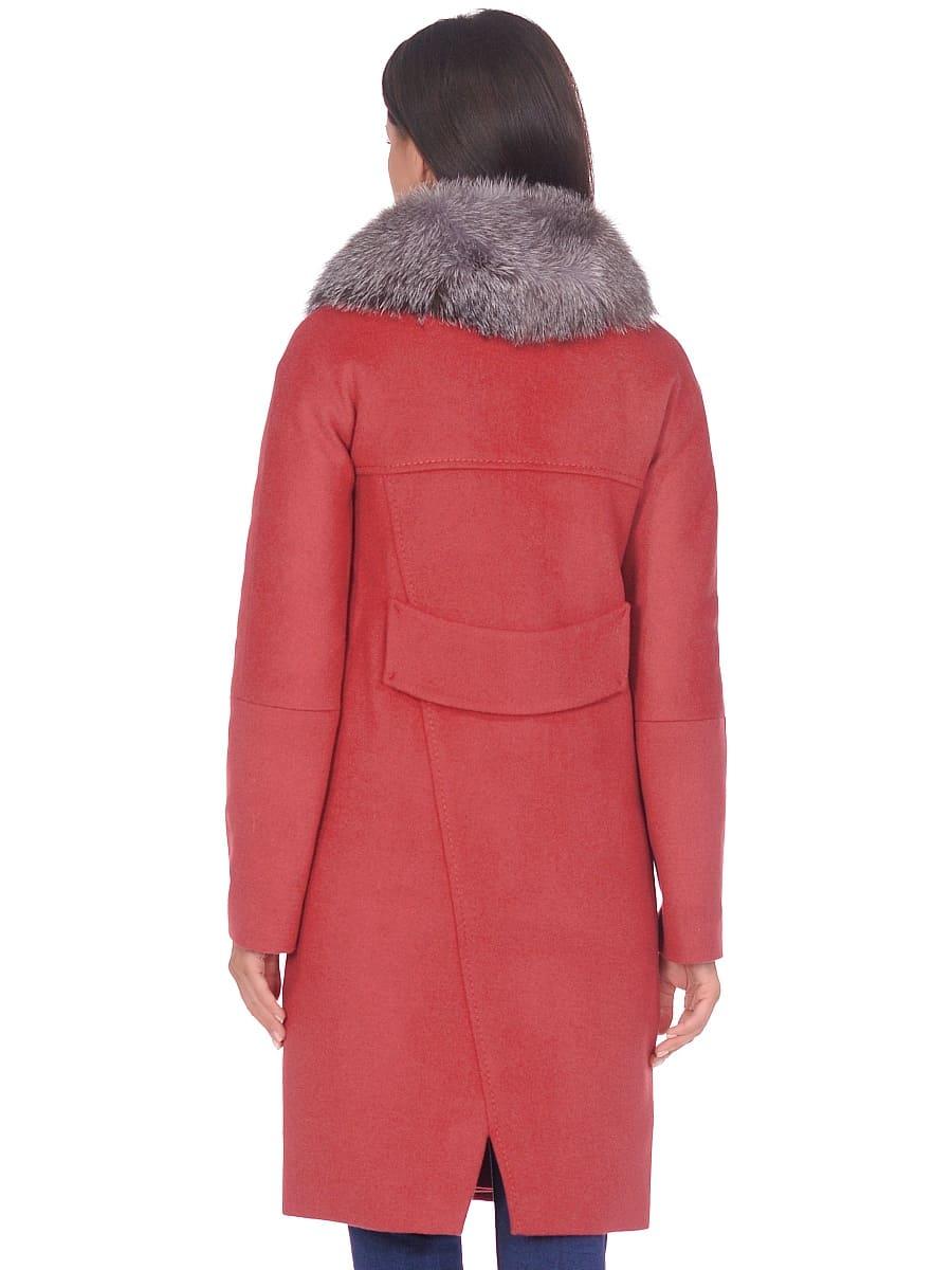 Женское зимнее пальто hr-1026 гранатовое фото-3
