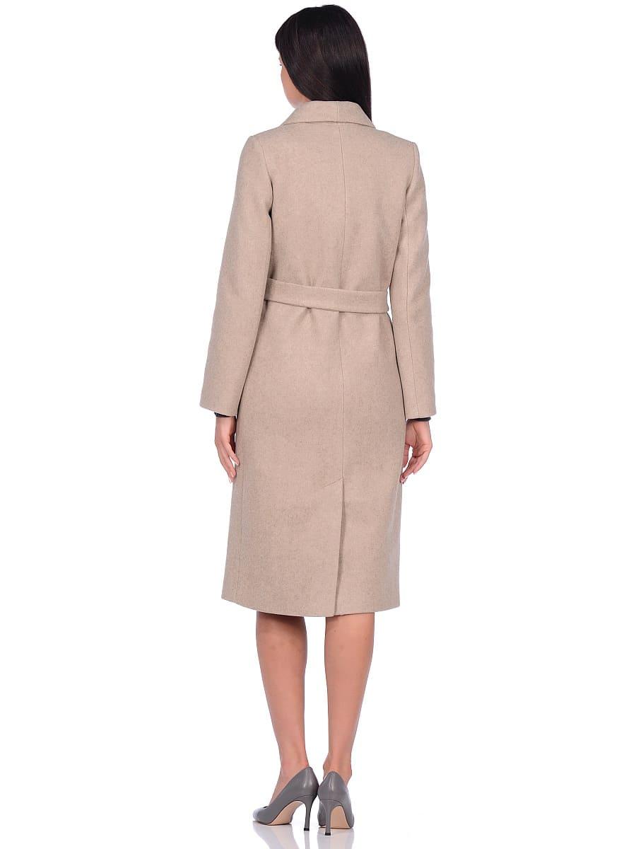 Женское демисезонное пальто hr-046 бежевое фото-3