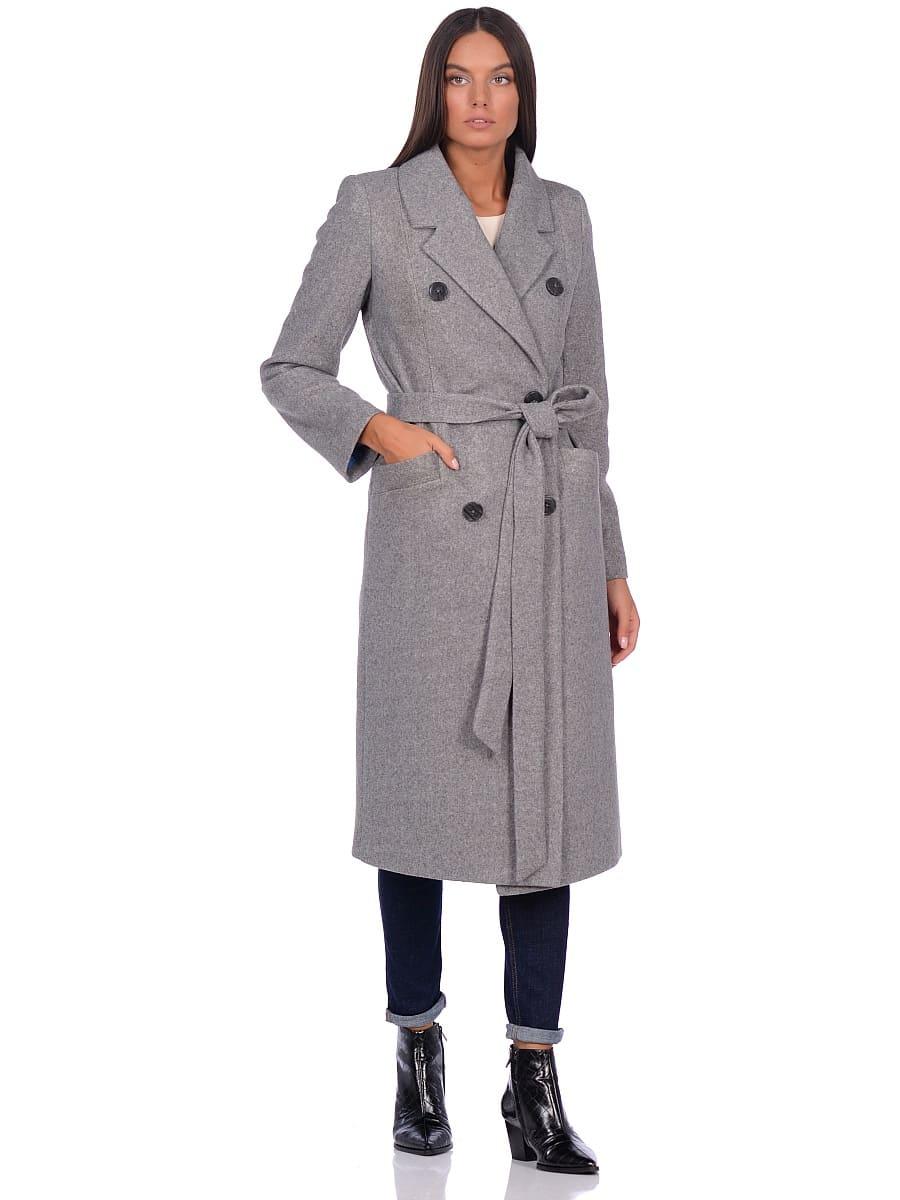Женское демисезонное пальто hr-046 серое фото-1