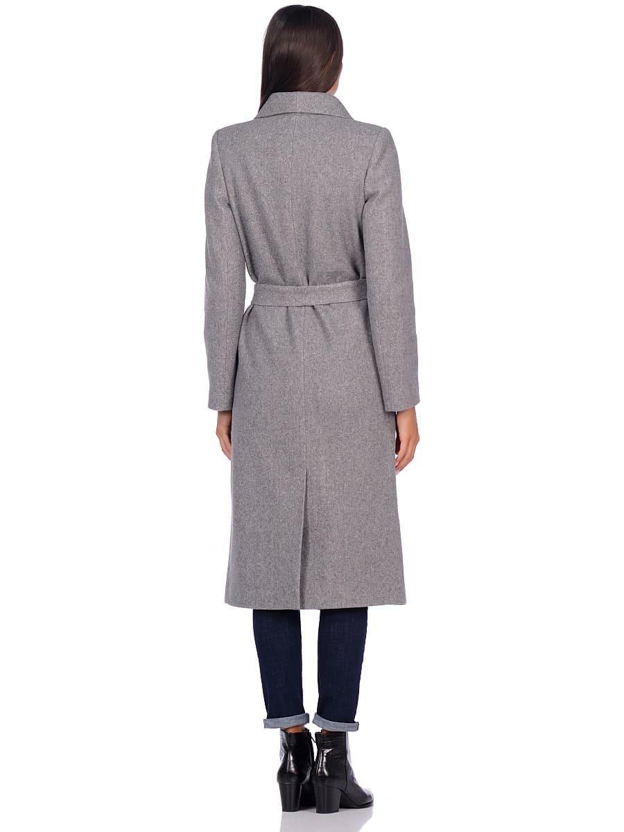 Женское демисезонное пальто hr-046 серое фото-3