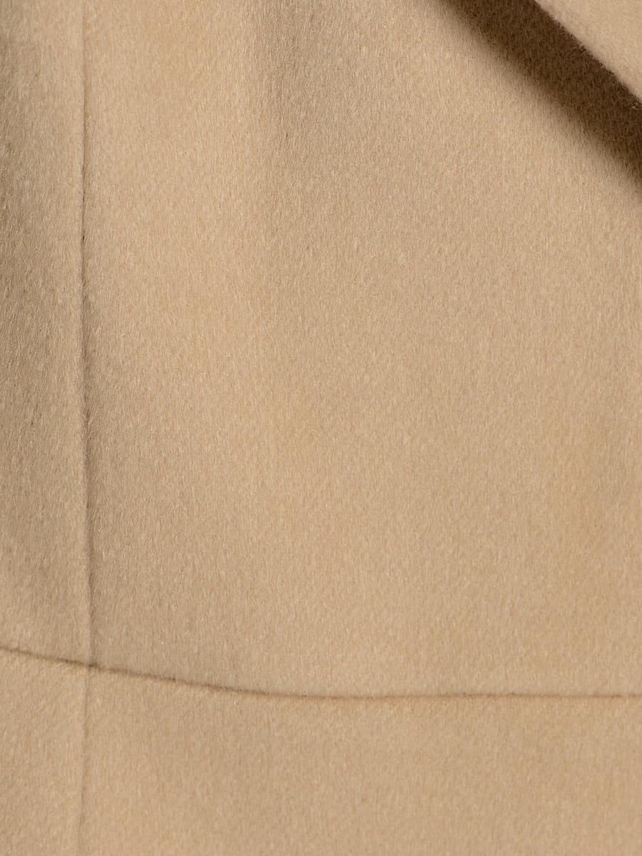 Женское демисезонное пальто hr-047 бежевое фото-5