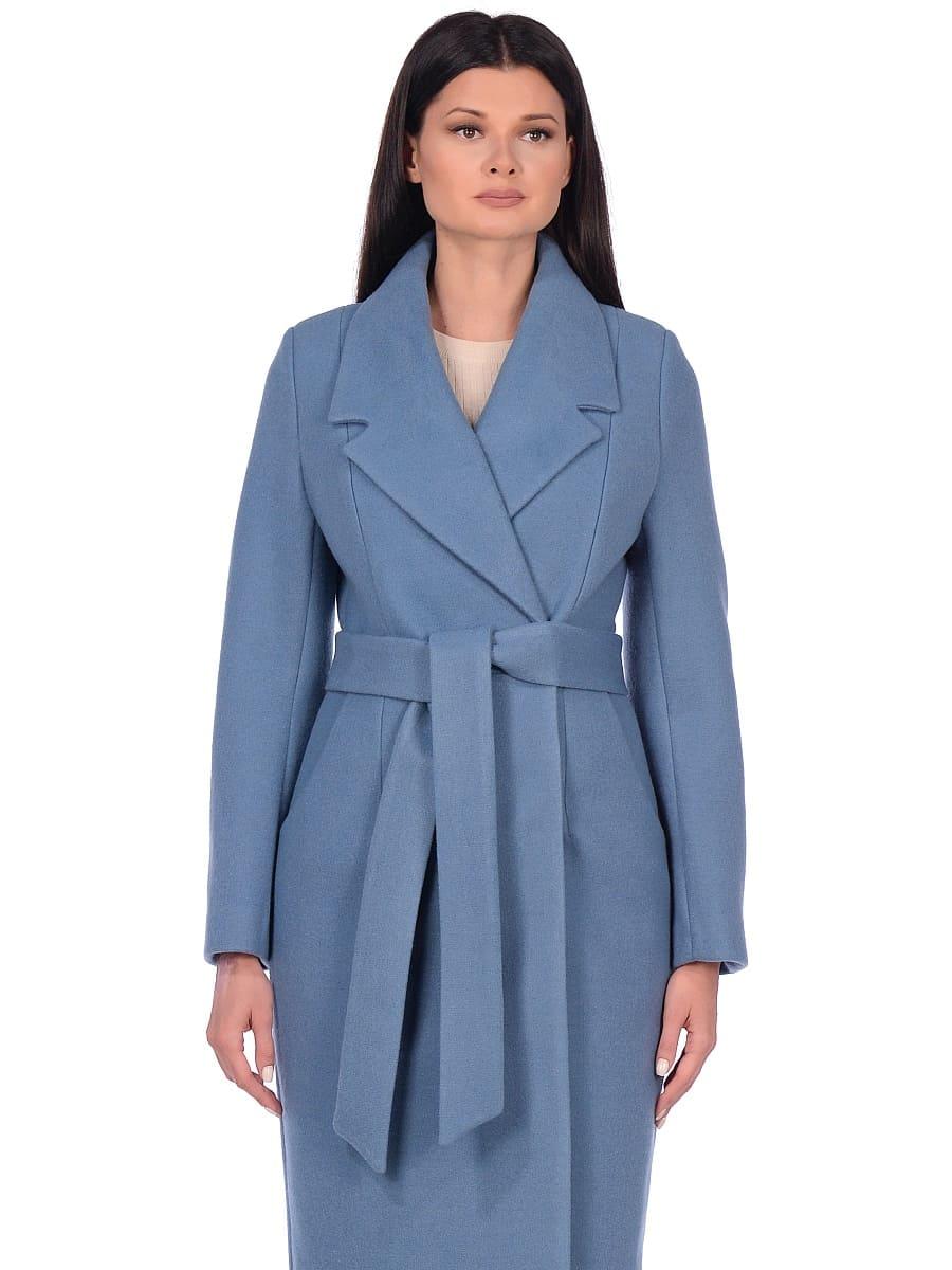 Женское демисезонное пальто hr-047 голубое фото-2