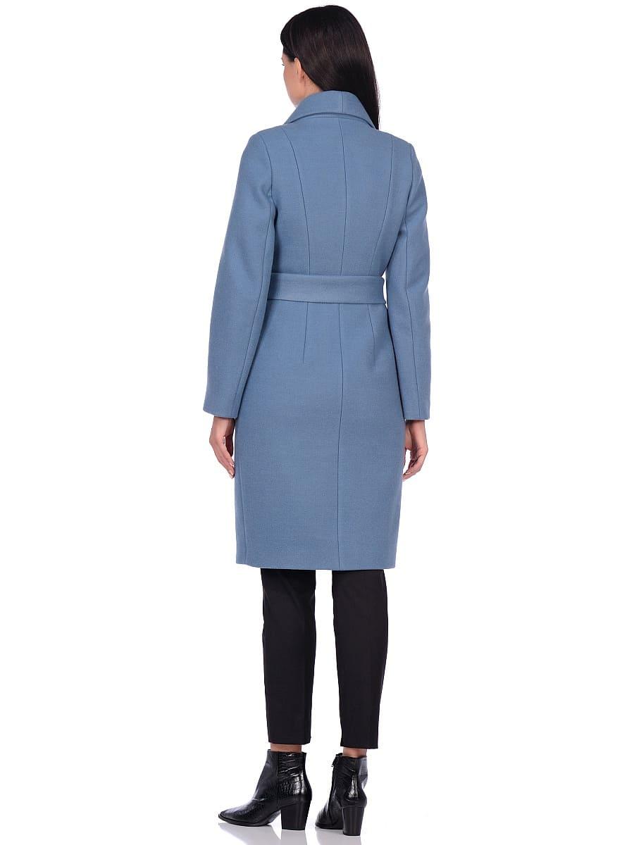 Женское демисезонное пальто hr-047 голубое фото-3