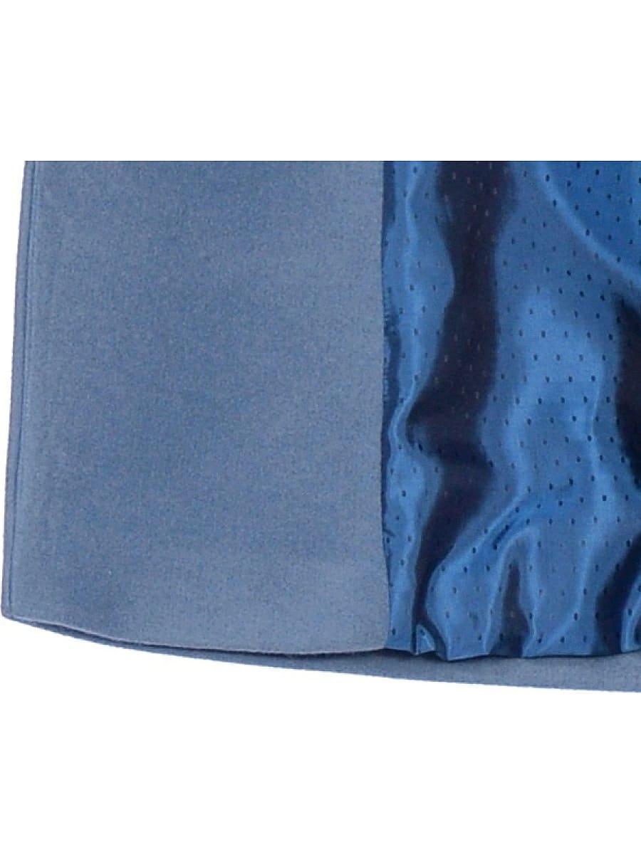 Женское демисезонное пальто hr-047 голубое фото-4