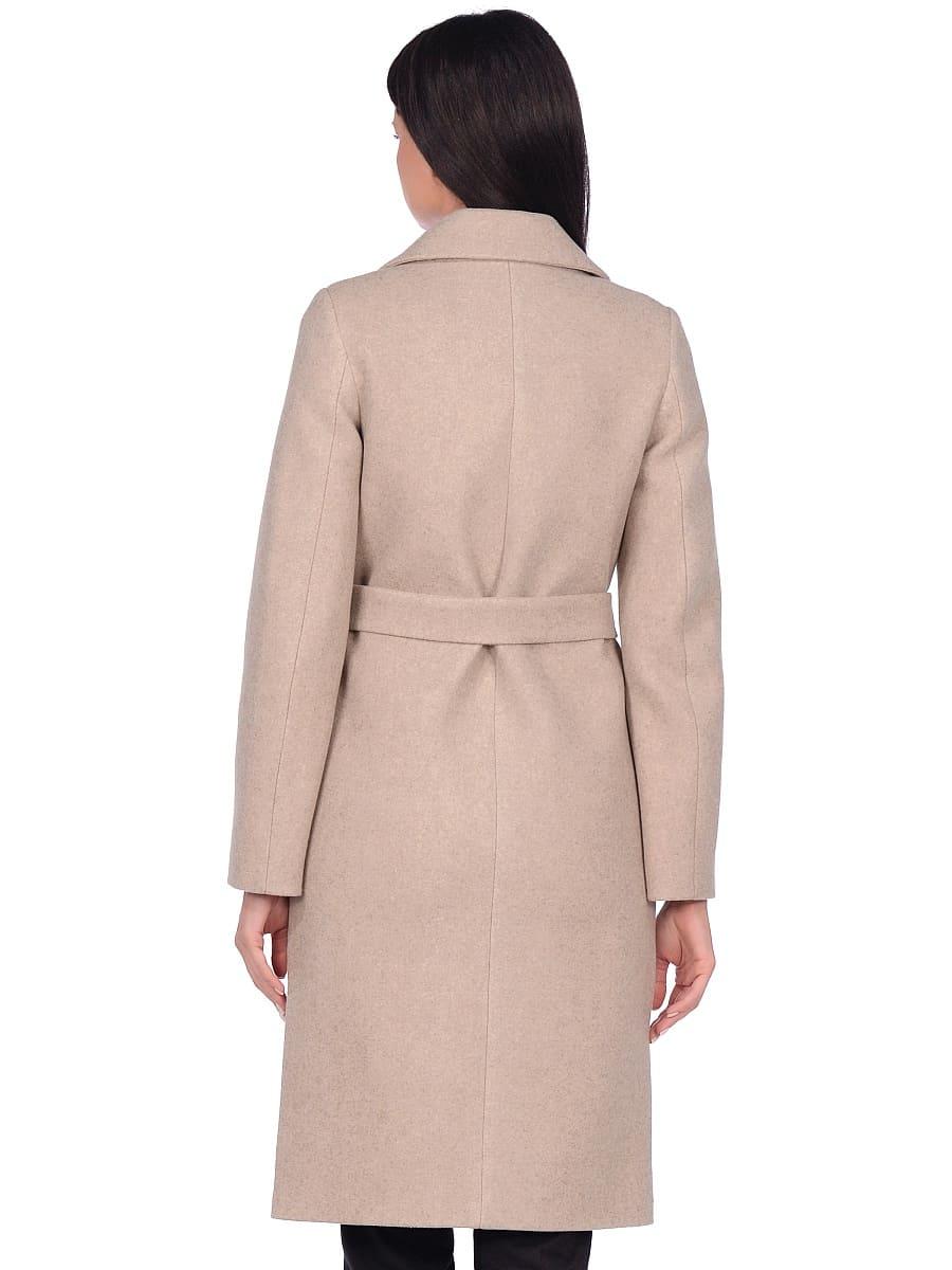 Женское демисезонное пальто hr-044 бежевое фото-3