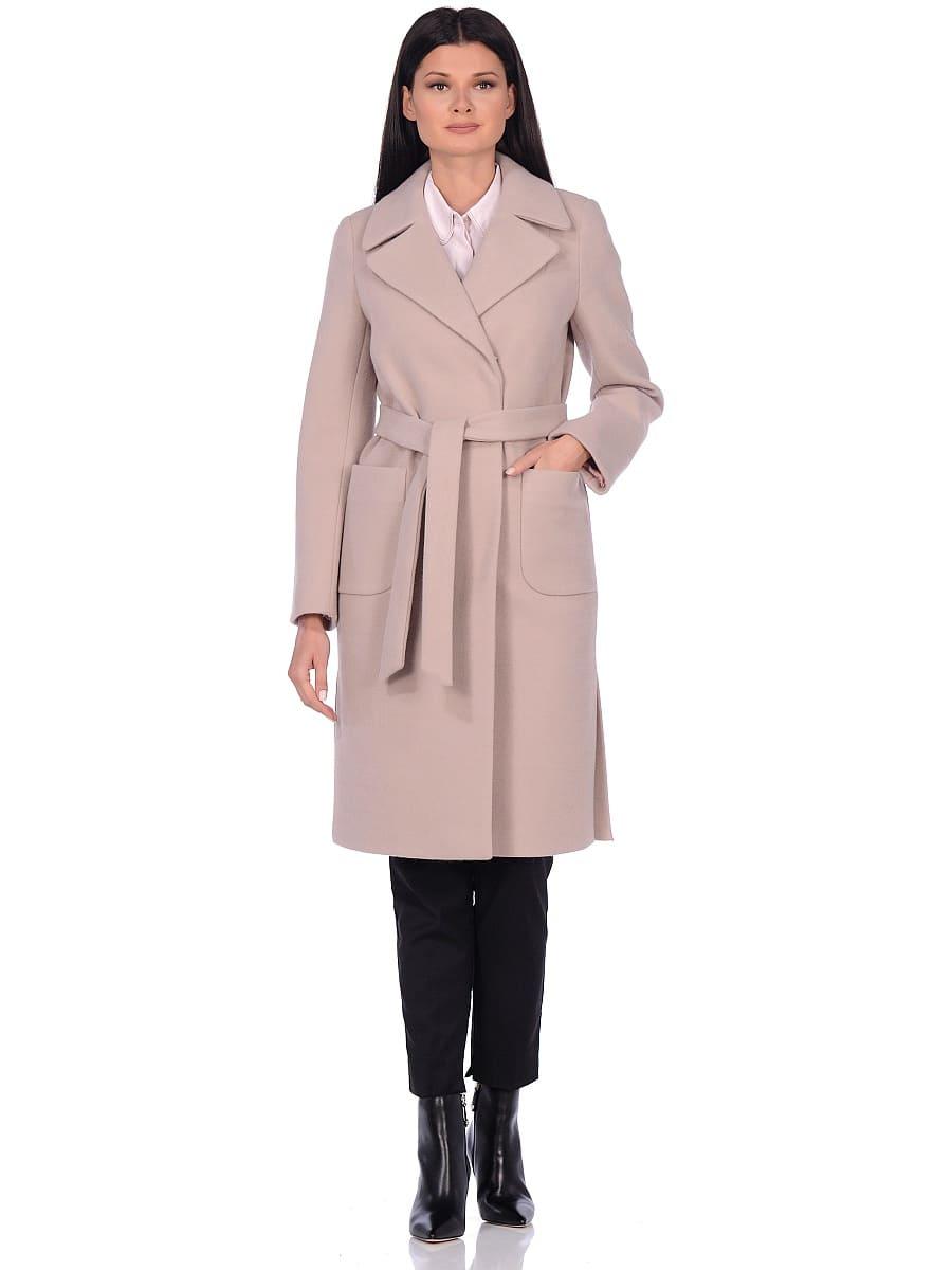 Женское демисезонное пальто hr-044 светло-серое фото-1