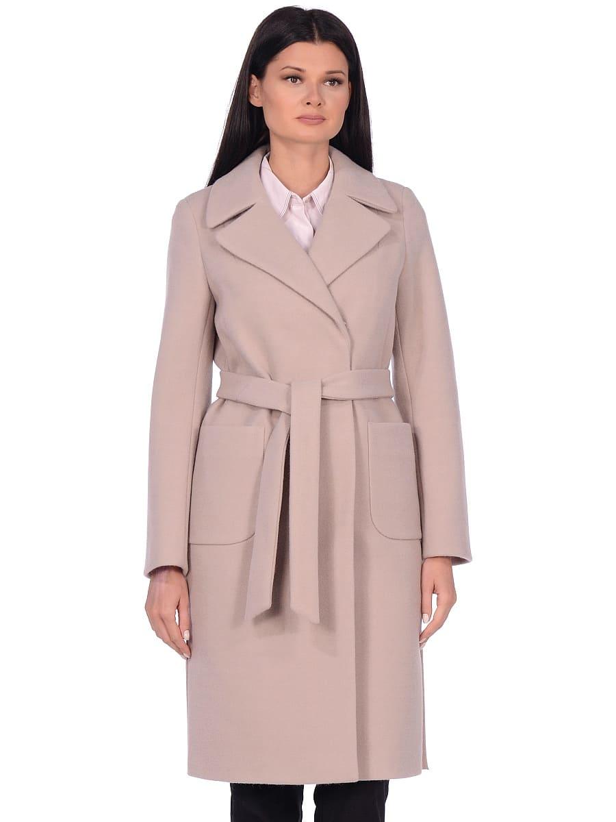 Женское демисезонное пальто hr-044 светло-серое фото-2