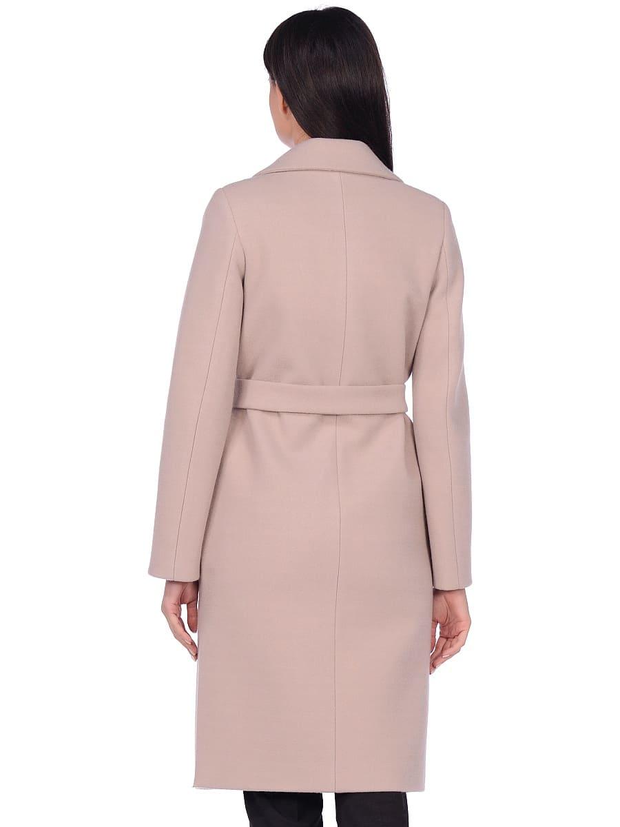 Женское демисезонное пальто hr-044 светло-серое фото-3