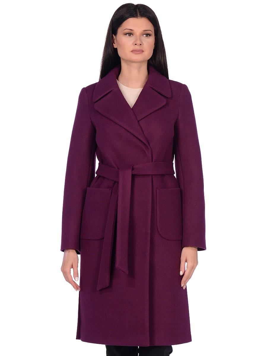 Женское демисезонное пальто hr-044 фиолетовое фото-2