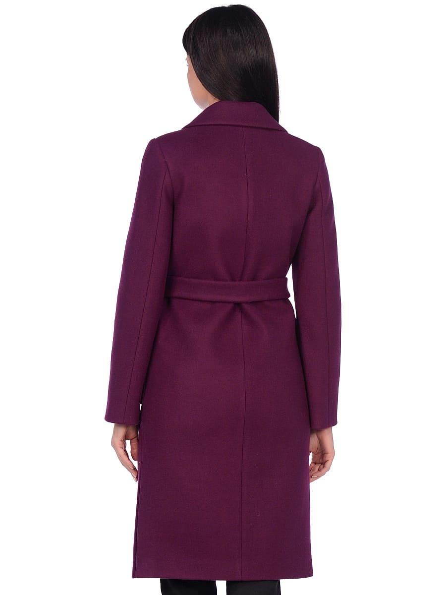 Женское демисезонное пальто hr-044 фиолетовое фото-3