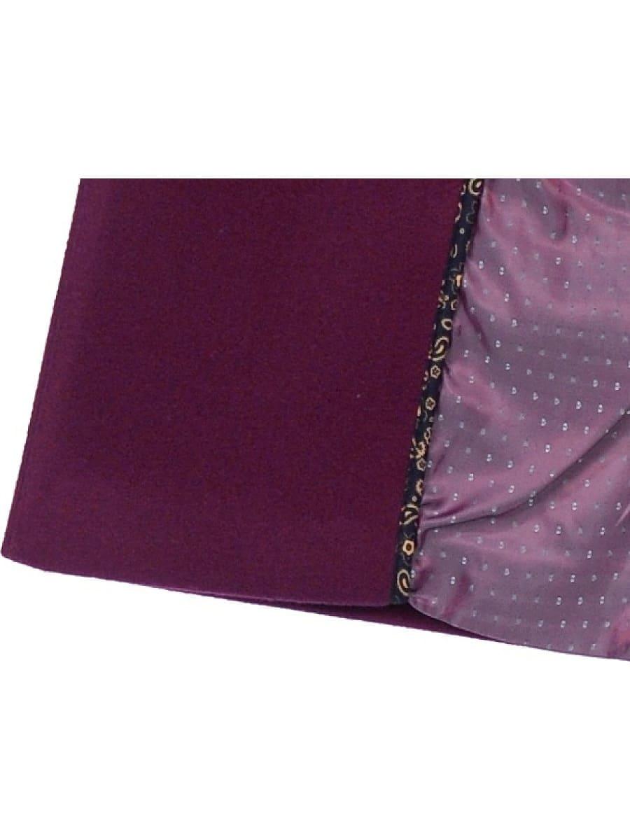 Женское демисезонное пальто hr-044 фиолетовое фото-4