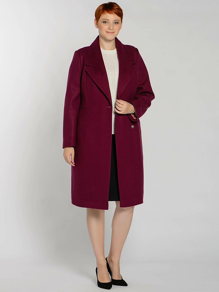 Женское демисезонное пальто hr-047 фиолетовое фото-1