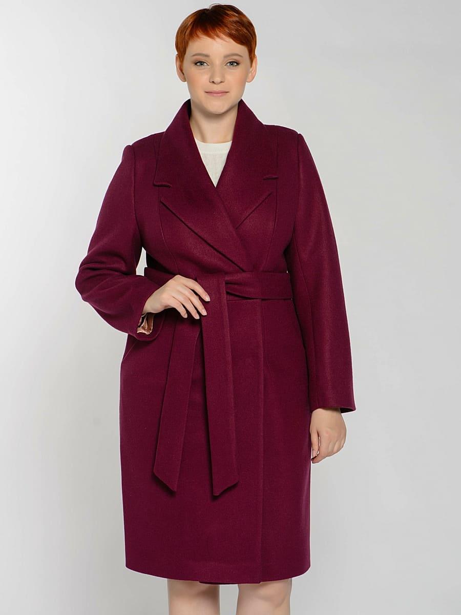 Женское демисезонное пальто hr-047 фиолетовое фото-2
