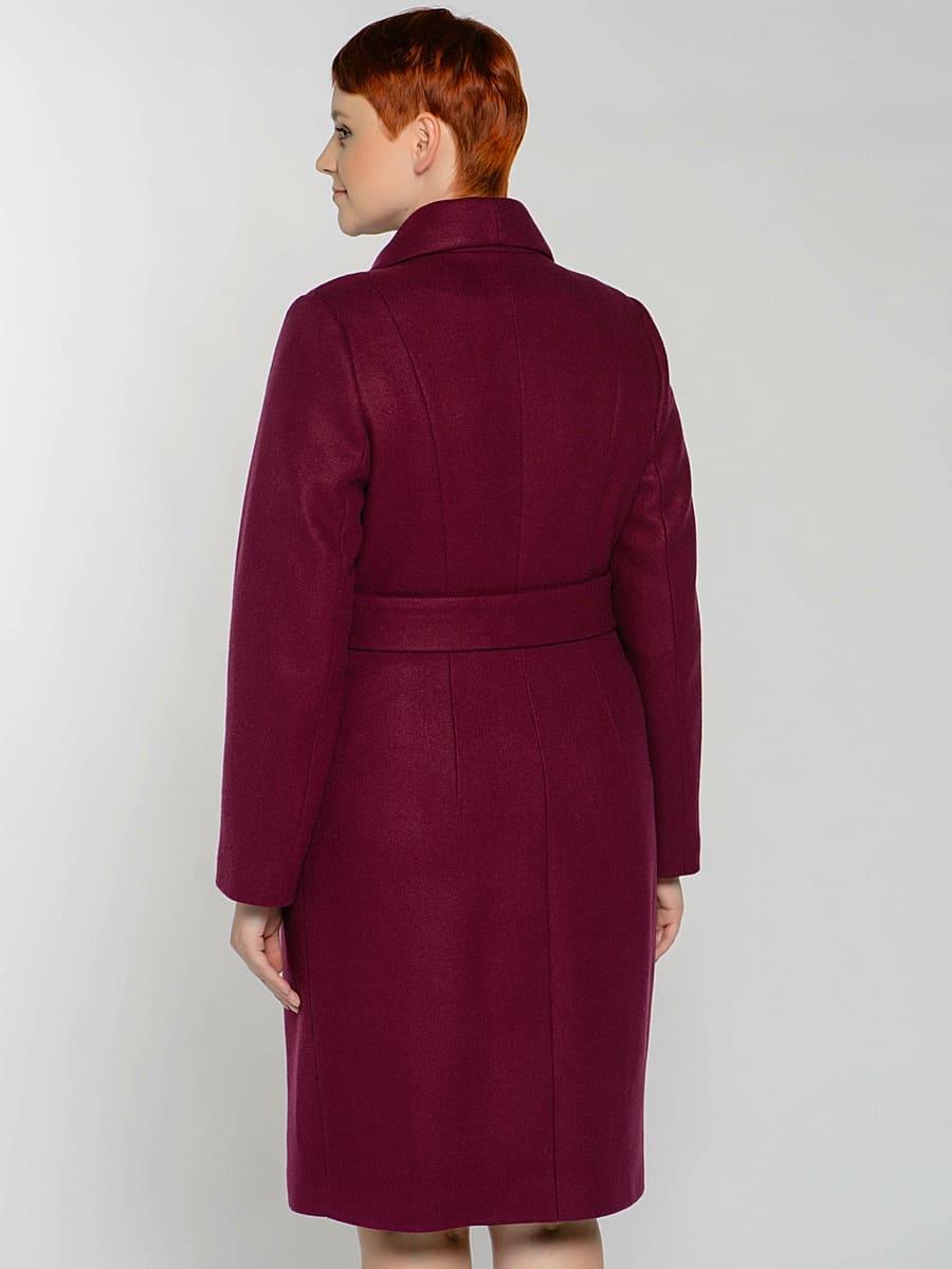 Женское демисезонное пальто hr-047 фиолетовое фото-3