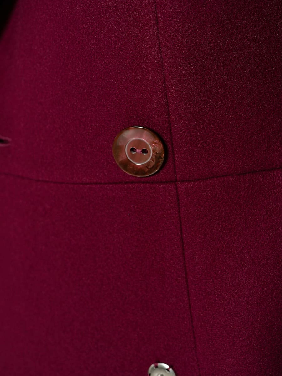 Женское демисезонное пальто hr-047 фиолетовое фото-5