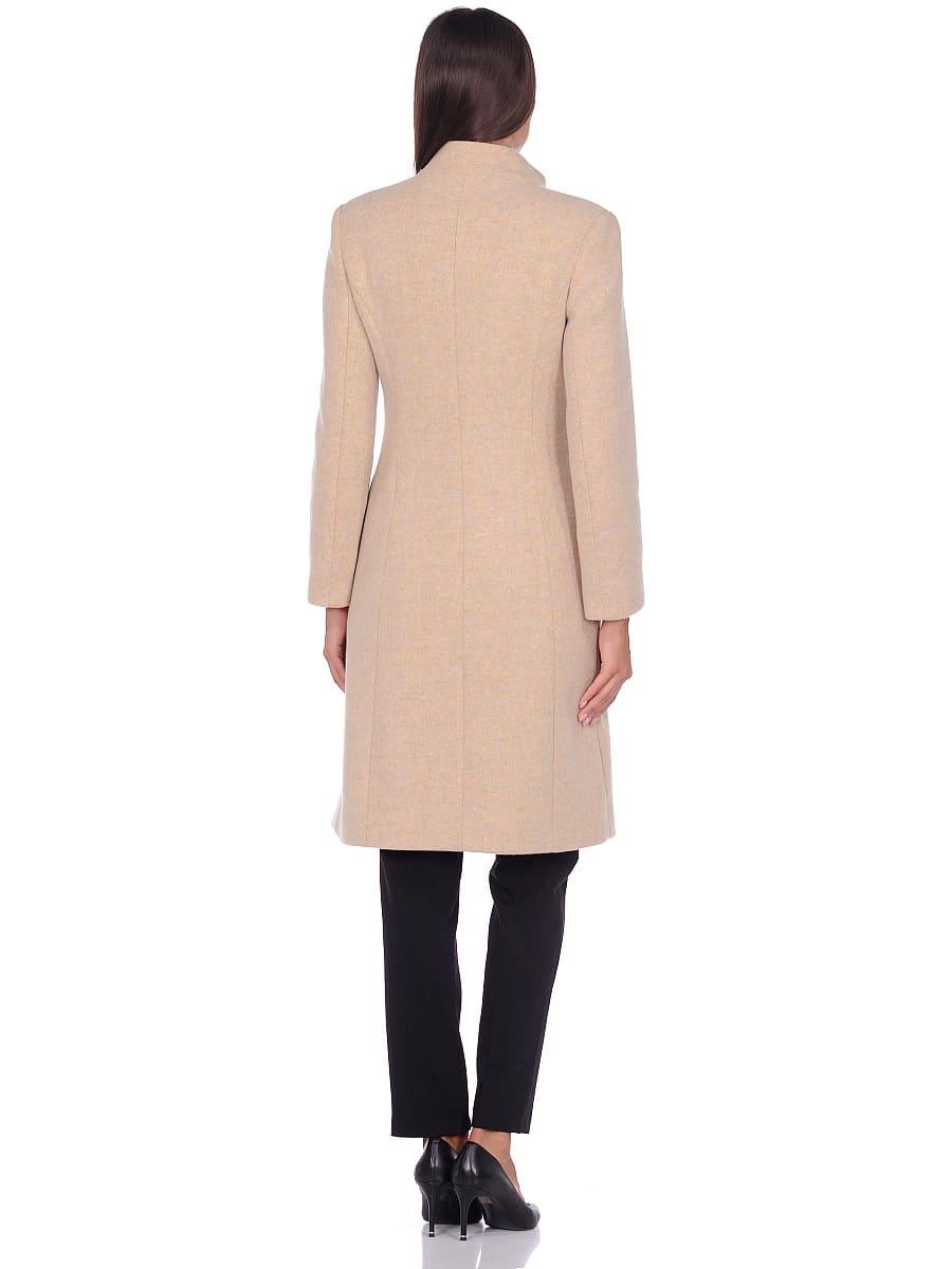 Женское демисезонное пальто hr-045 бежевое-фото-3