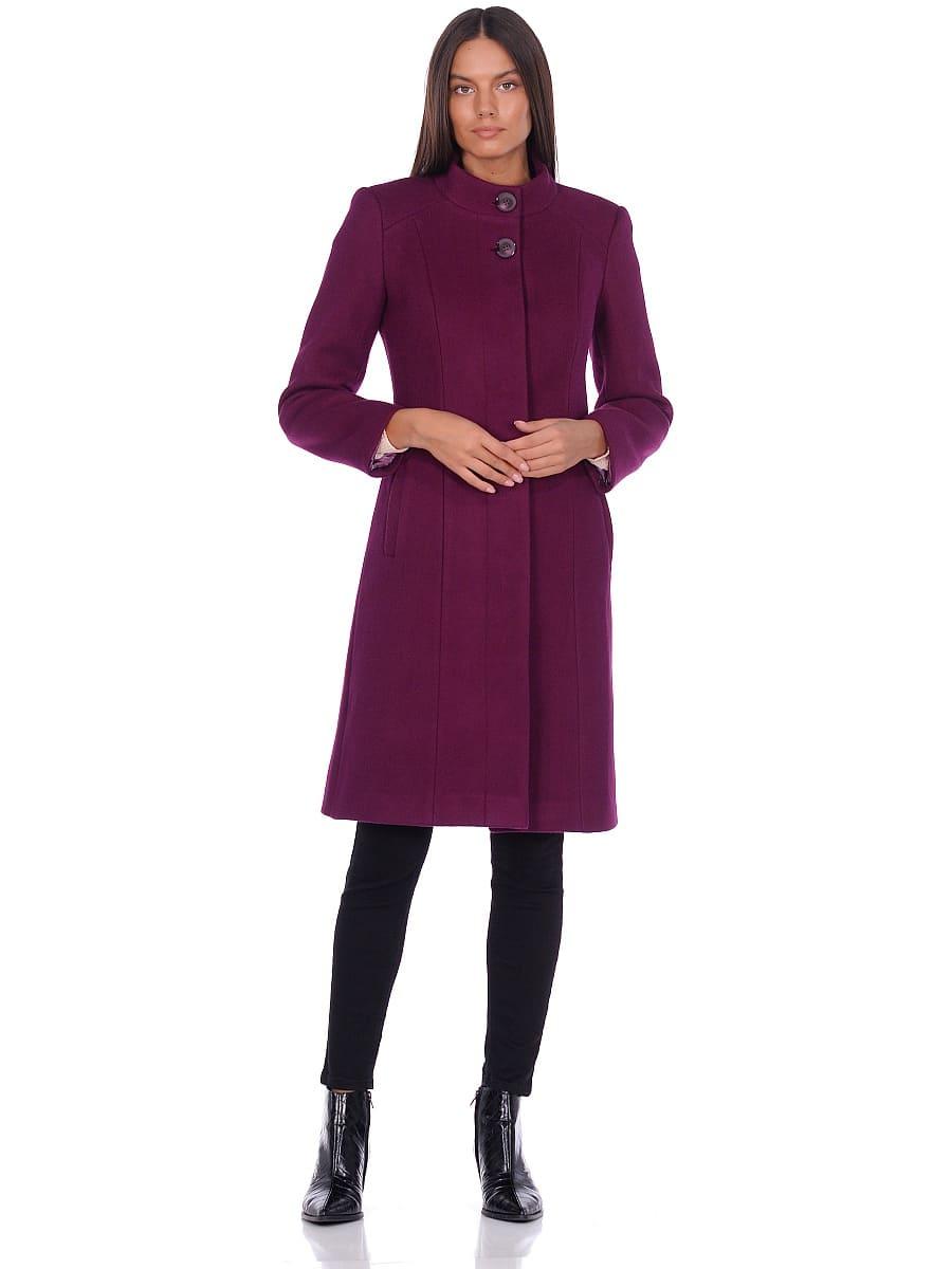Женское демисезонное пальто hr-045 фиолетовое-фото-1