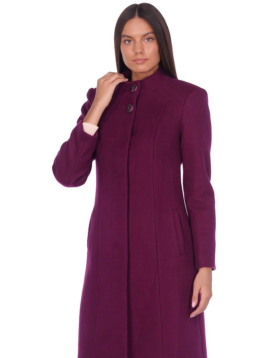 Женское демисезонное пальто hr-045 фиолетовое-фото-2
