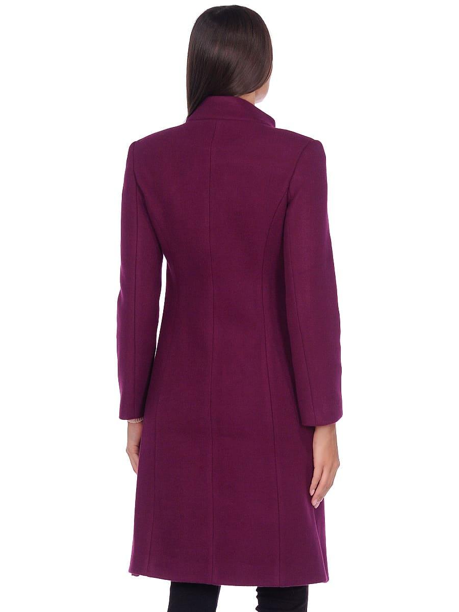 Женское демисезонное пальто hr-045 фиолетовое-фото-3