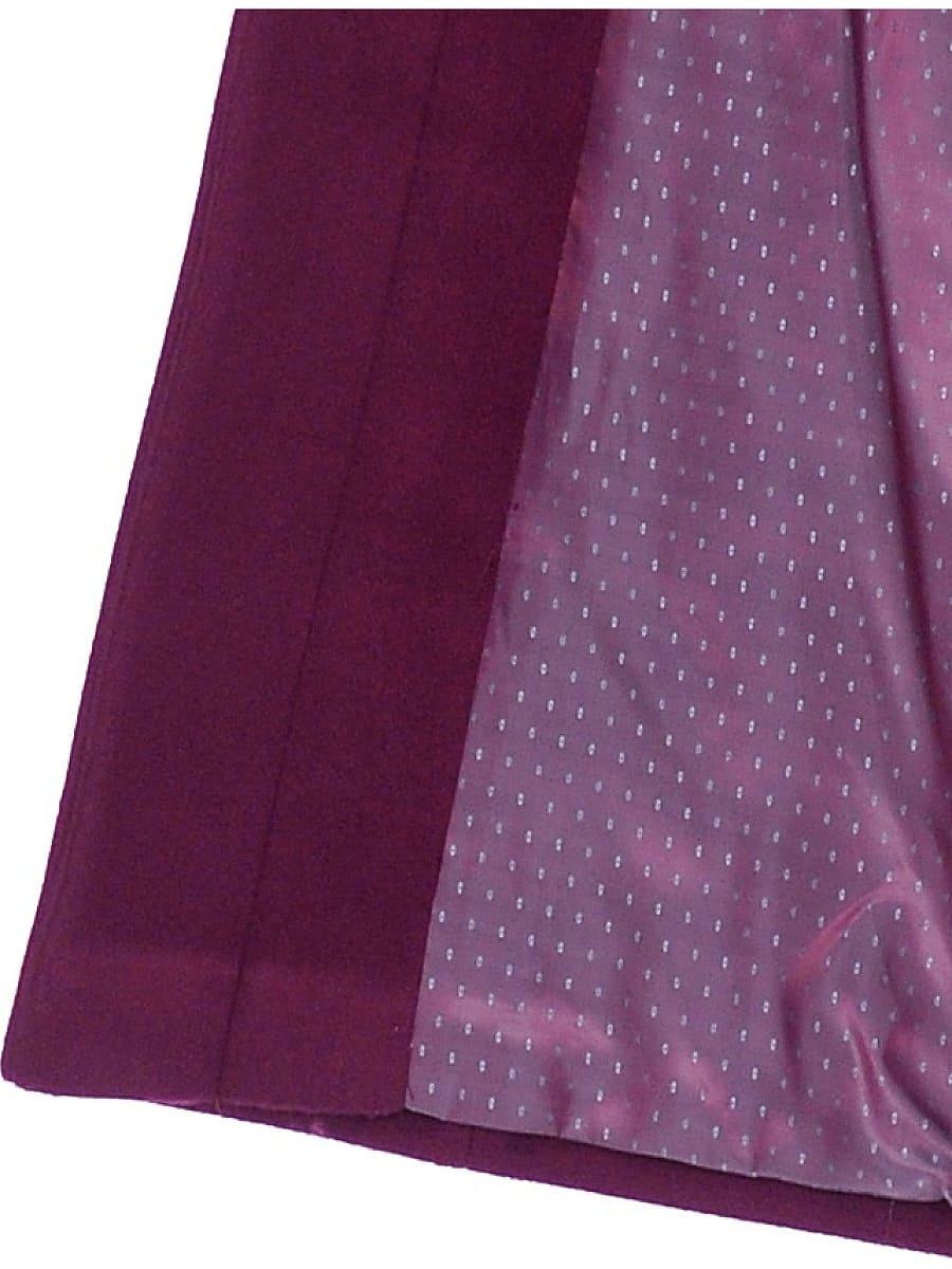 Женское демисезонное пальто hr-045 фиолетовое-фото-4