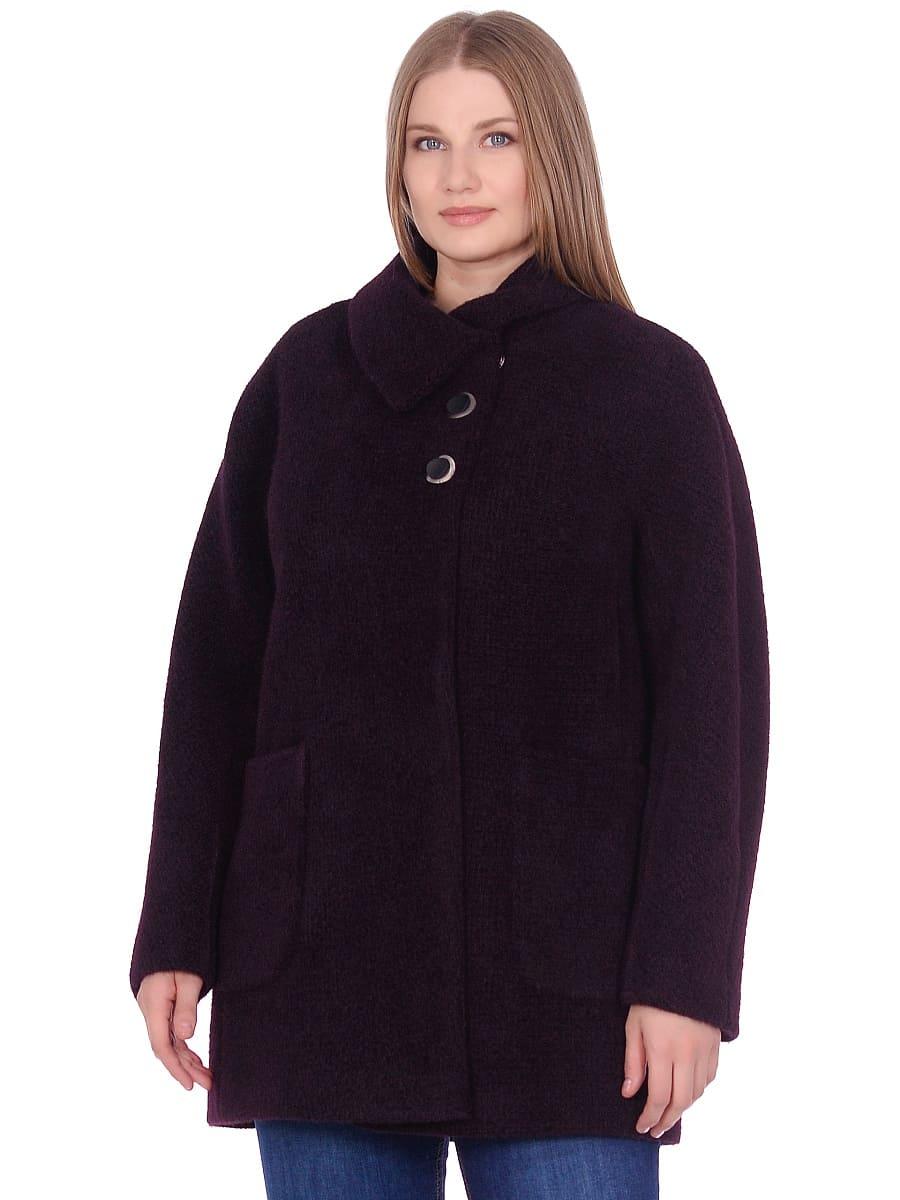 Женское демисезонное пальто hr-048 темно-фиолетовое фото-2