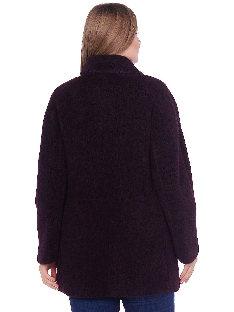 Женское демисезонное пальто hr-048 темно-фиолетовое фото-3