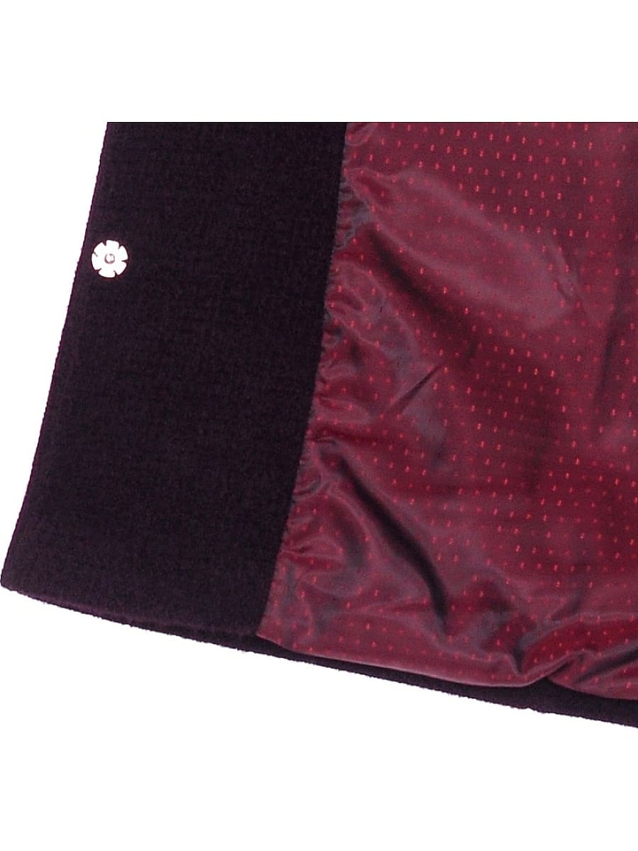 Женское демисезонное пальто hr-048 темно-фиолетовое фото-4