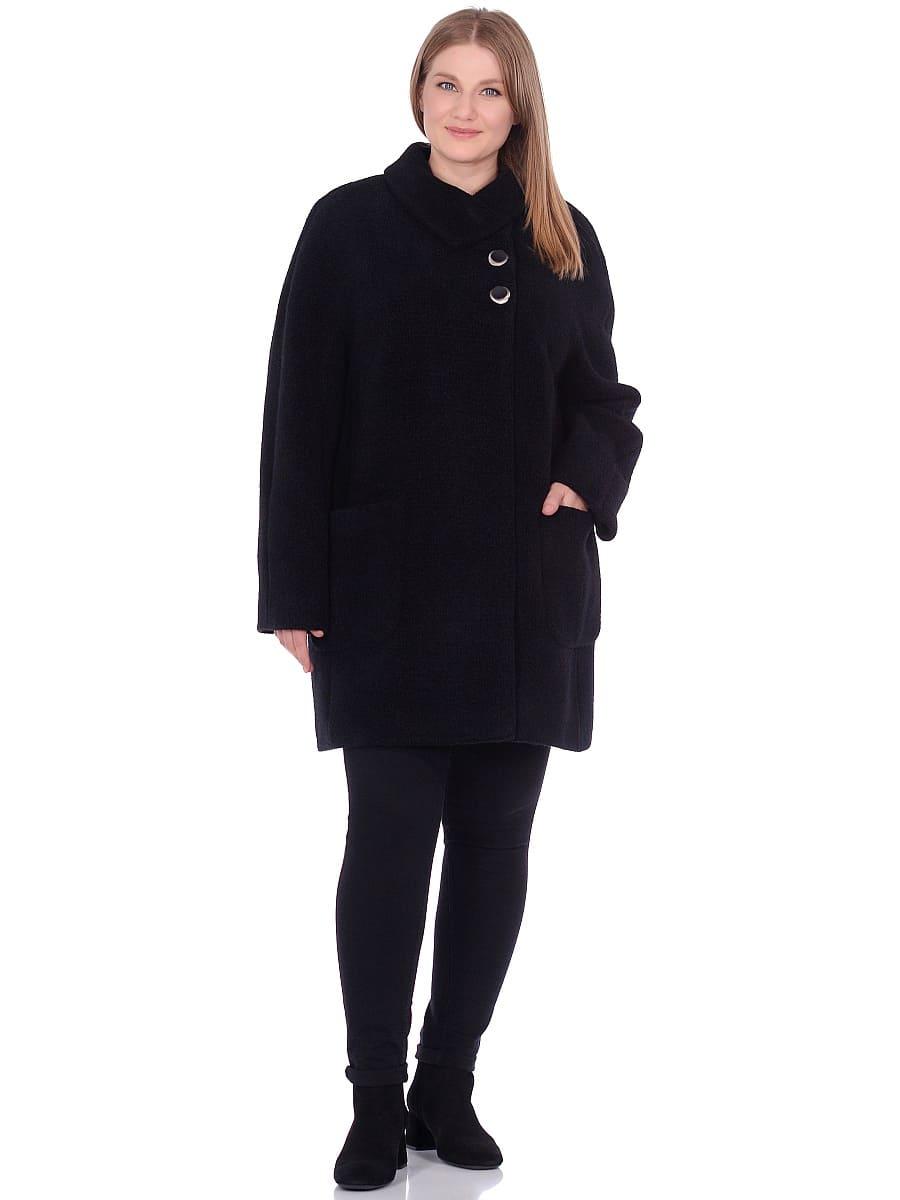 Женское демисезонное пальто hr-048 черное фото-1