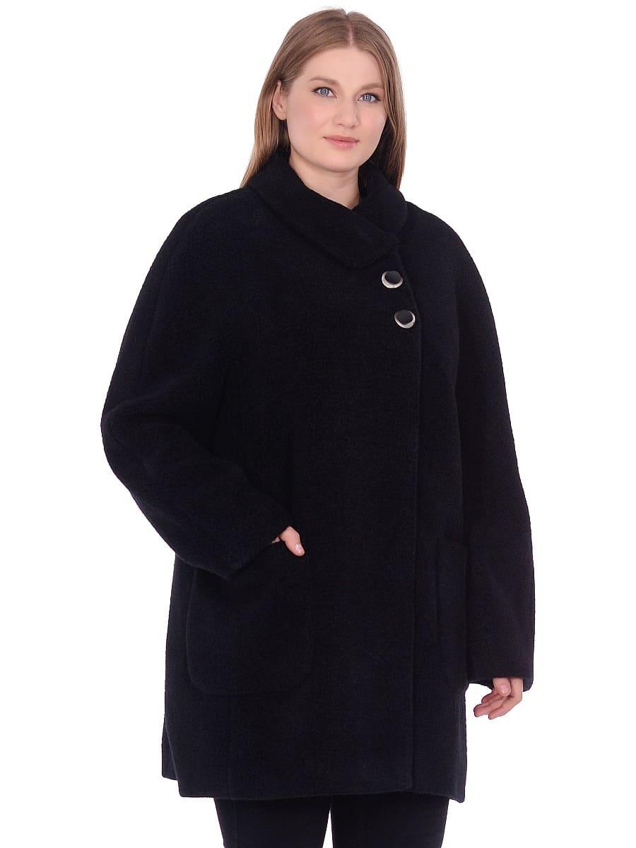 Женское демисезонное пальто hr-048 черное фото-2