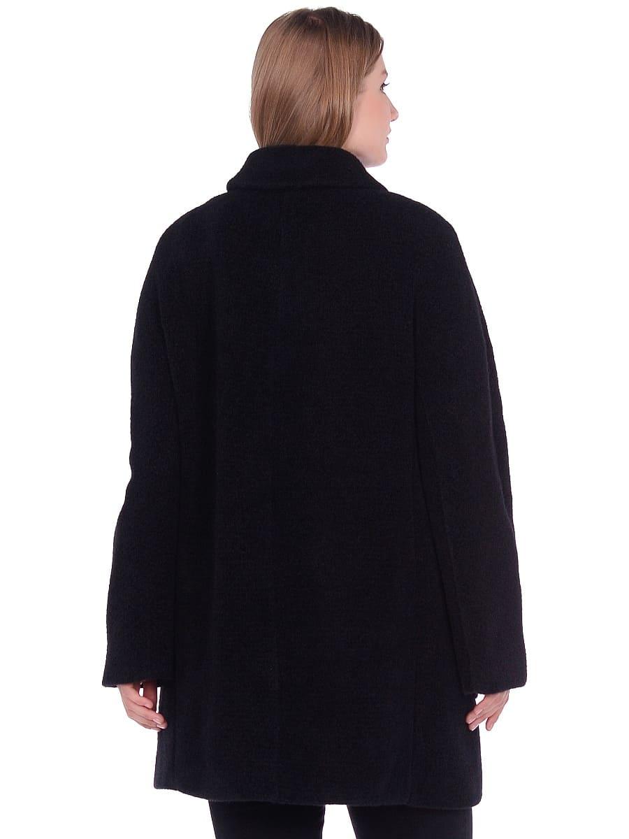 Женское демисезонное пальто hr-048 черное фото-3