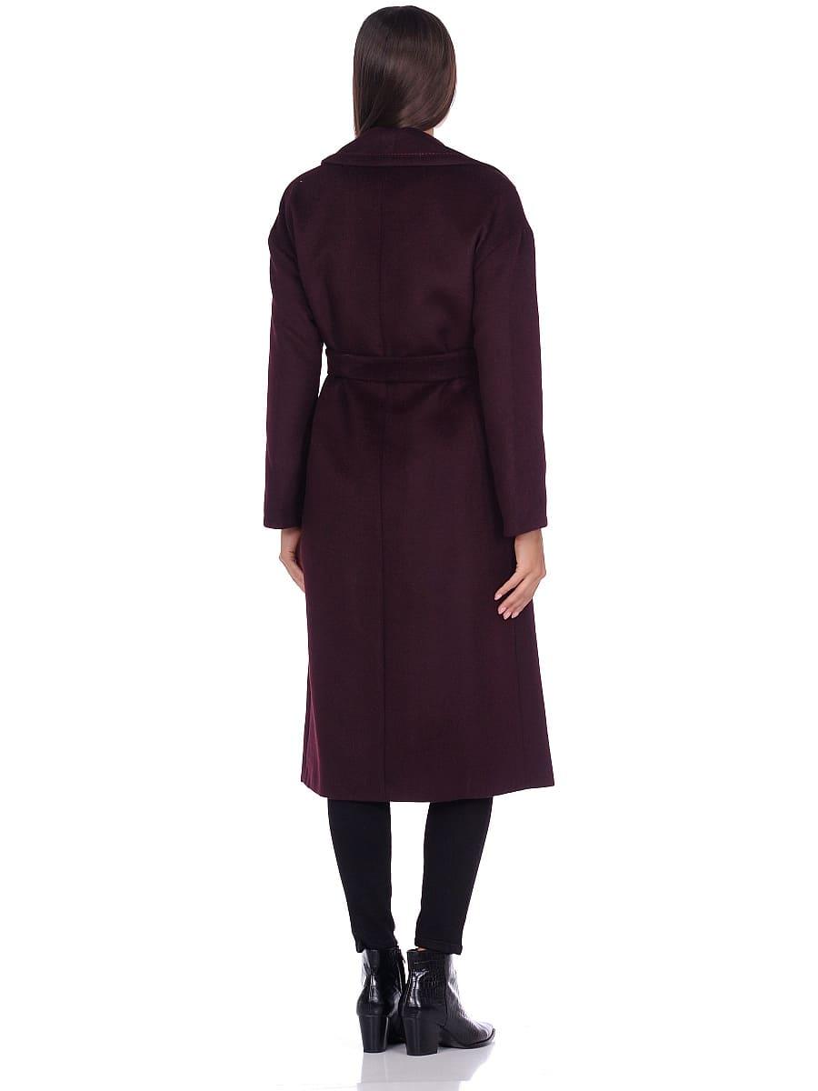 Женское демисезонное пальто hr-1013-1 темно-бордовое фото-3
