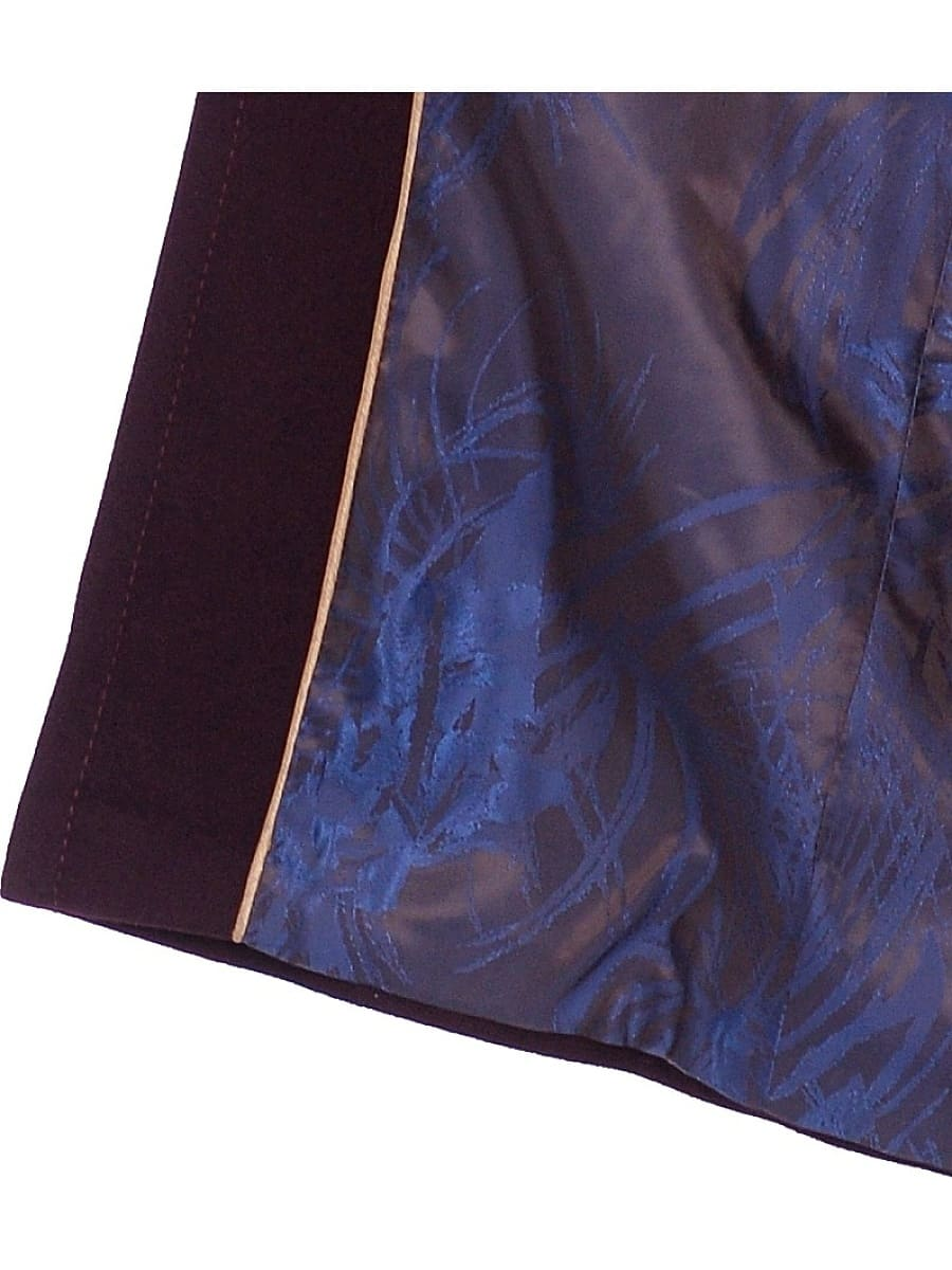 Женское демисезонное пальто hr-1013-1 темно-бордовое фото-4