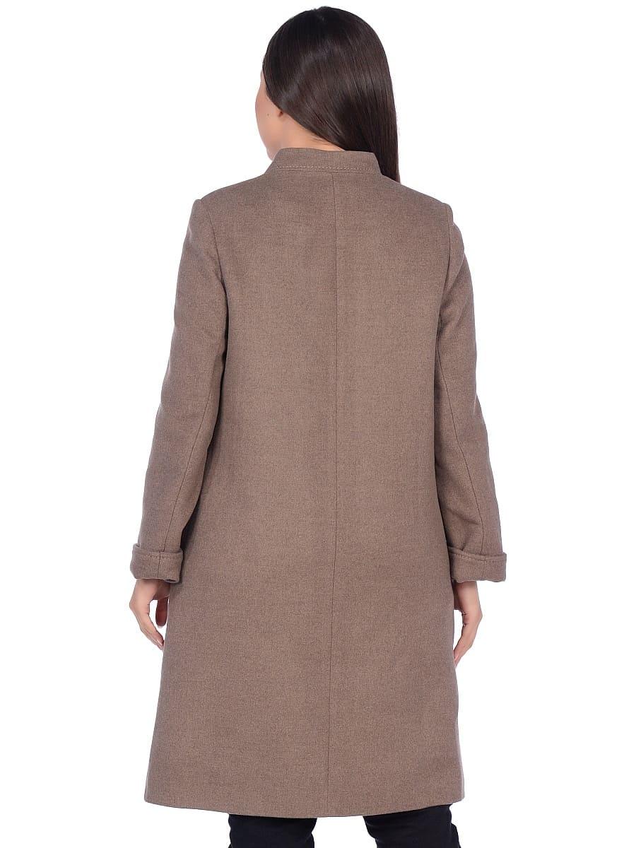 Женское демисезонное пальто hr-1007-1 бежевое фото-3