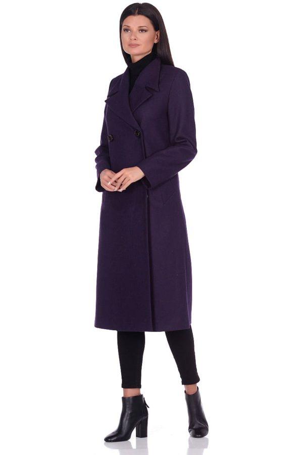 Женское демисезонное пальто hr-1015-1 фиолетовое фото-1