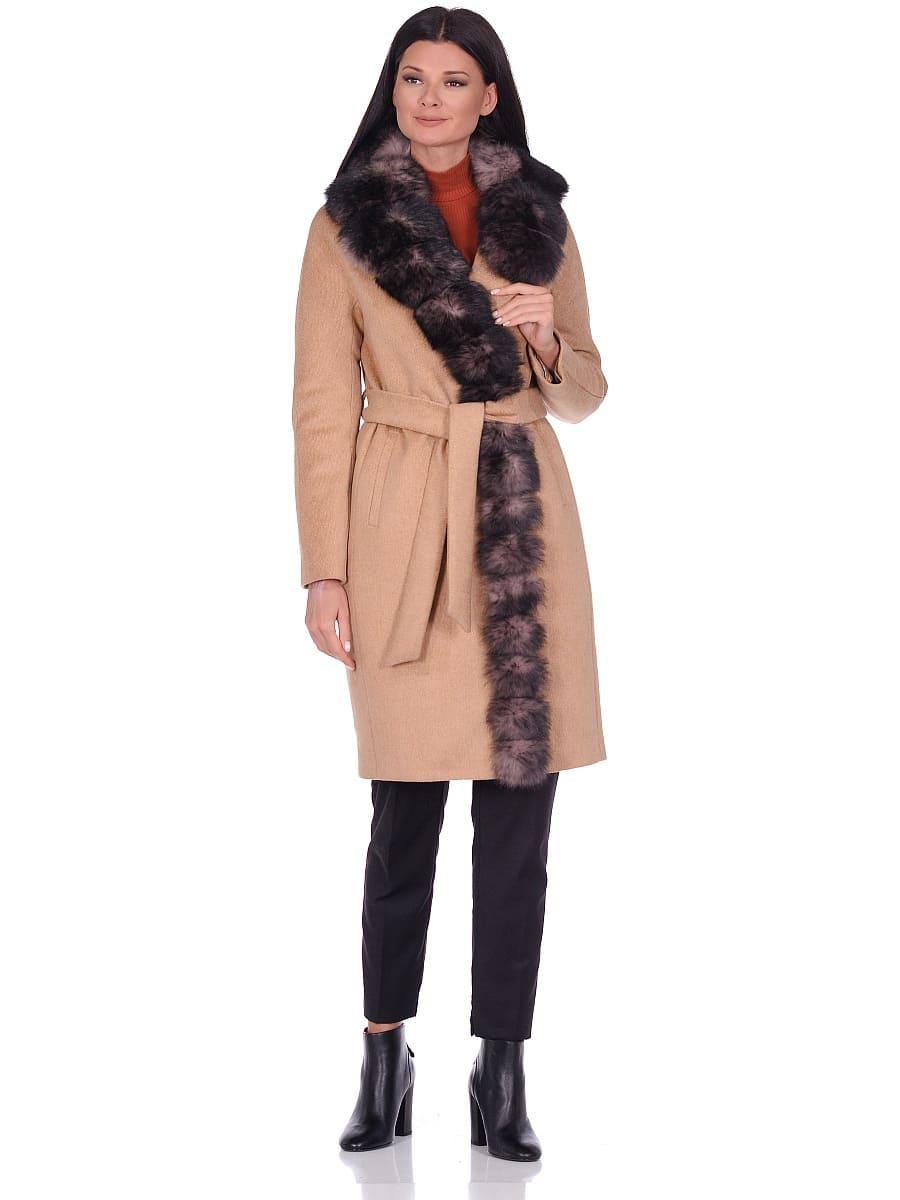 Женское зимнее пальто hr-1025 песочное фото-1