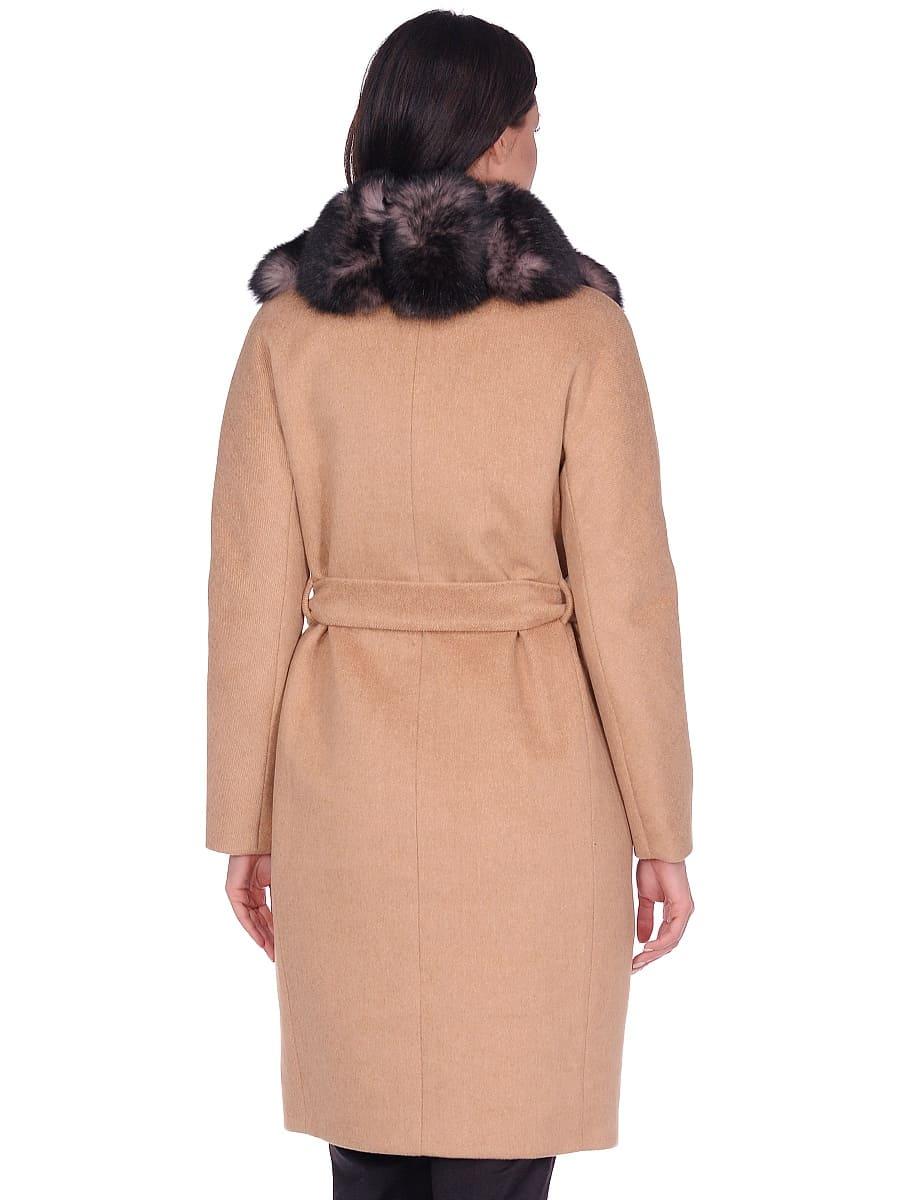 Женское зимнее пальто hr-1025 песочное фото-3