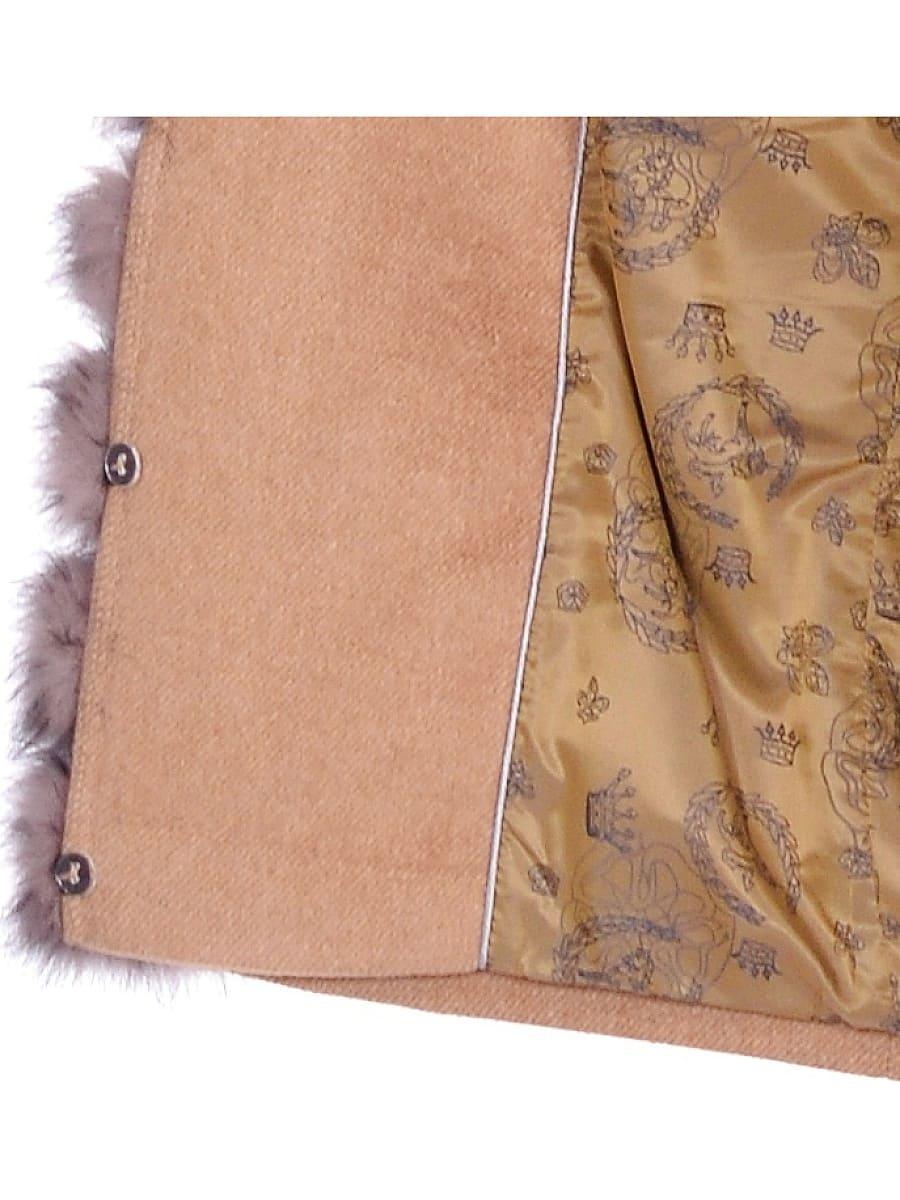 Женское зимнее пальто hr-1025 песочное фото-4