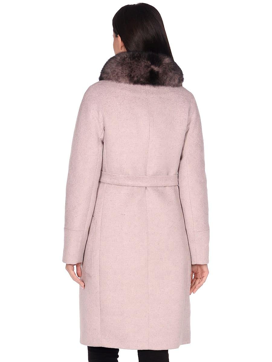 Женское зимнее пальто hr-1018 бледно-розовое фото-3