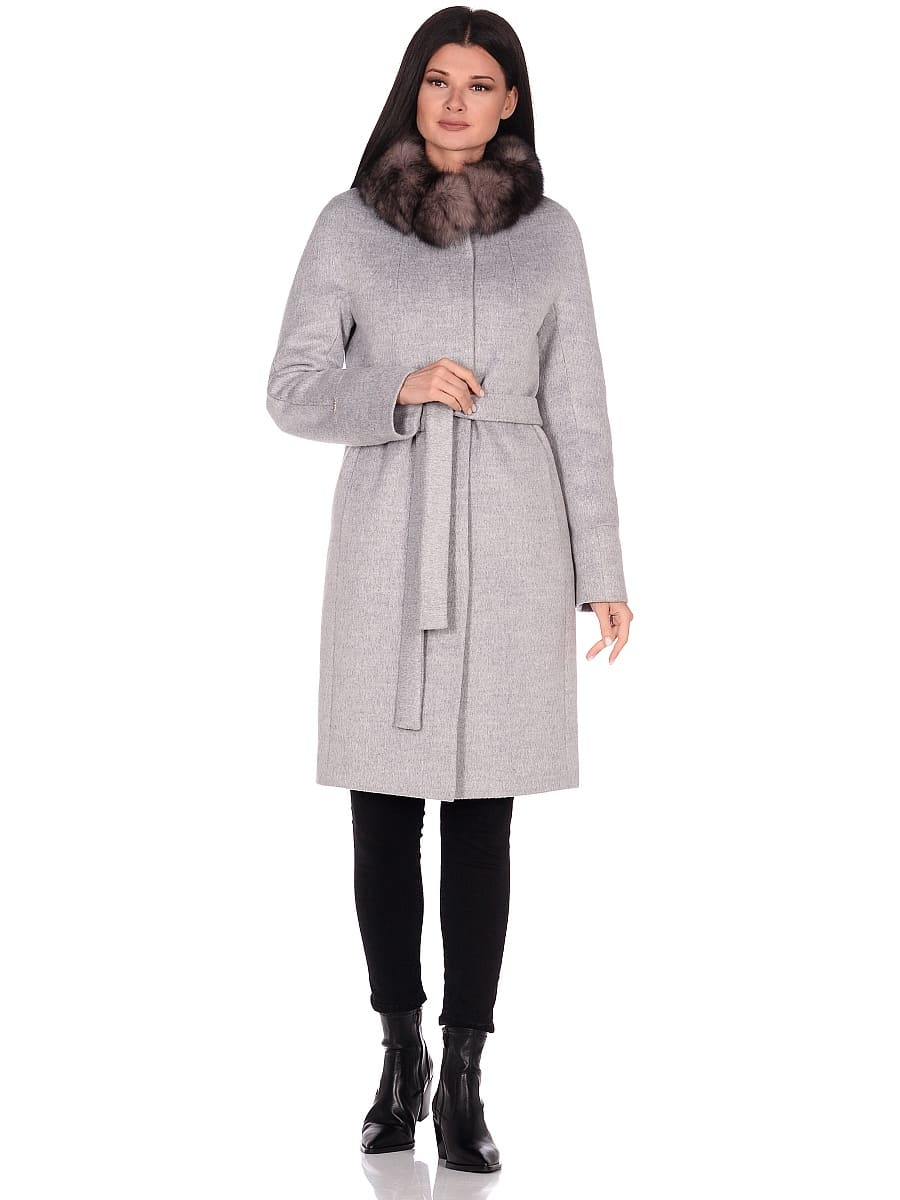 Женское зимнее пальто hr-1018 серое фото-1