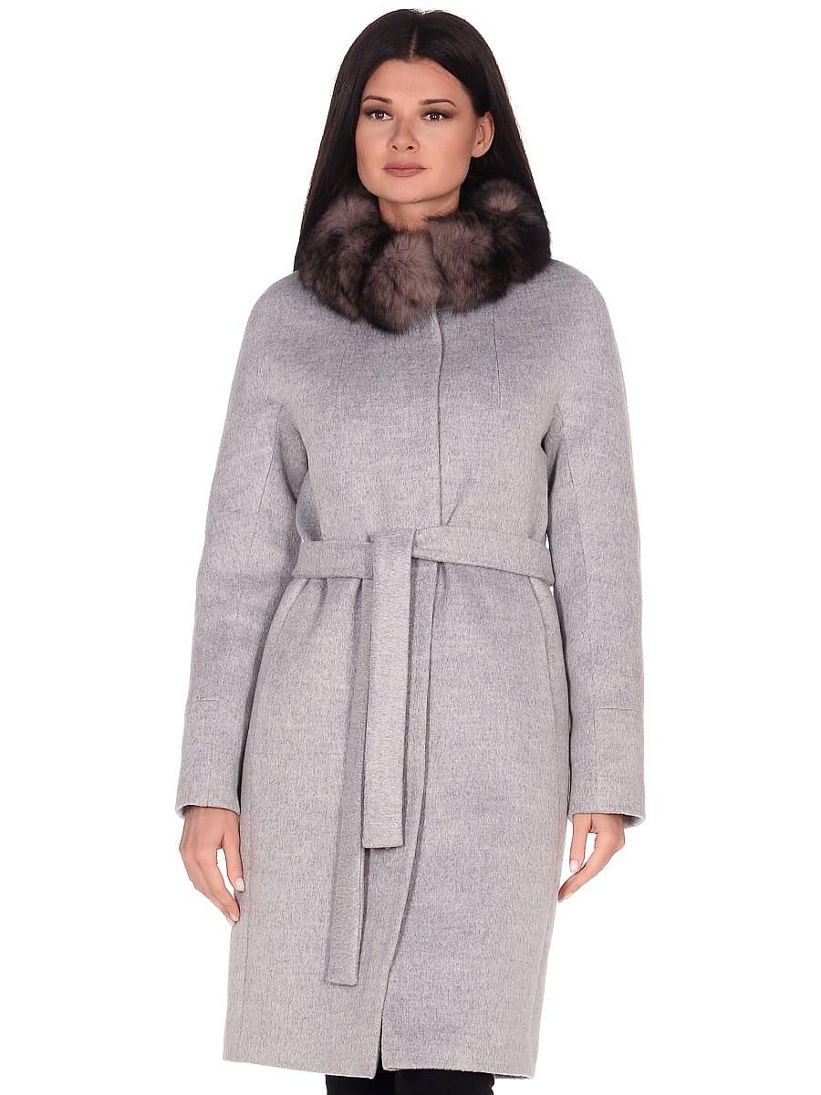 Женское зимнее пальто hr-1018 серое фото-2