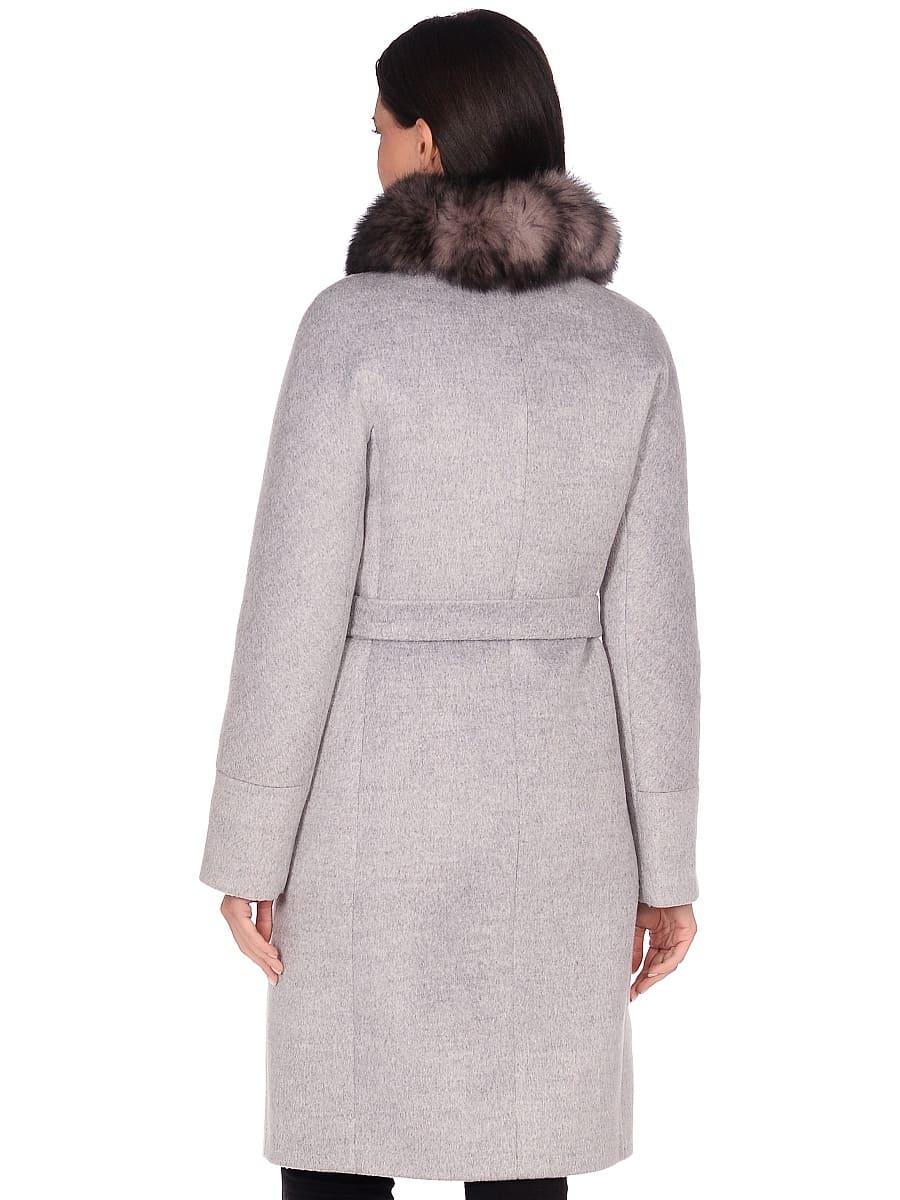 Женское зимнее пальто hr-1018 серое фото-3