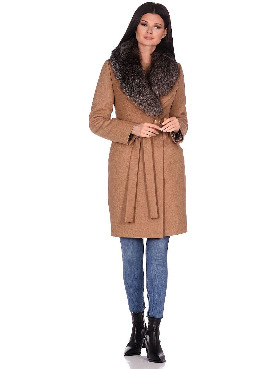 Женское зимнее пальто hr-1009-1 песочное-фото-1