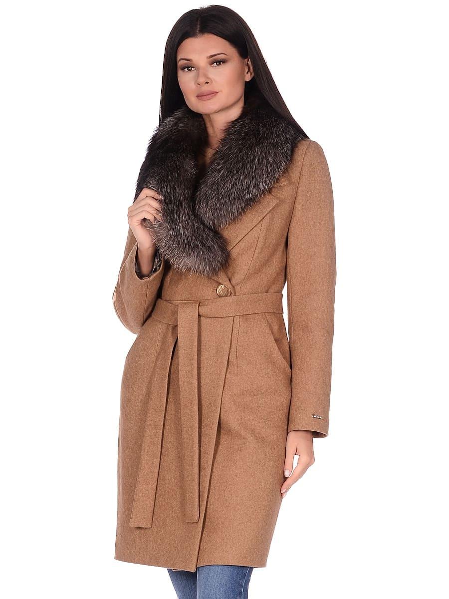 Женское зимнее пальто hr-1009-1 песочное-фото-2