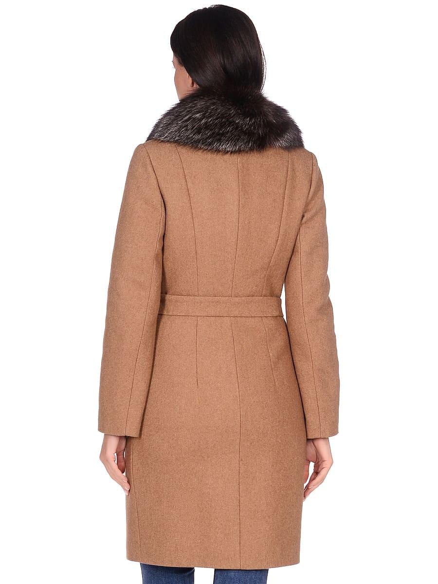 Женское зимнее пальто hr-1009-1 песочное-фото-3