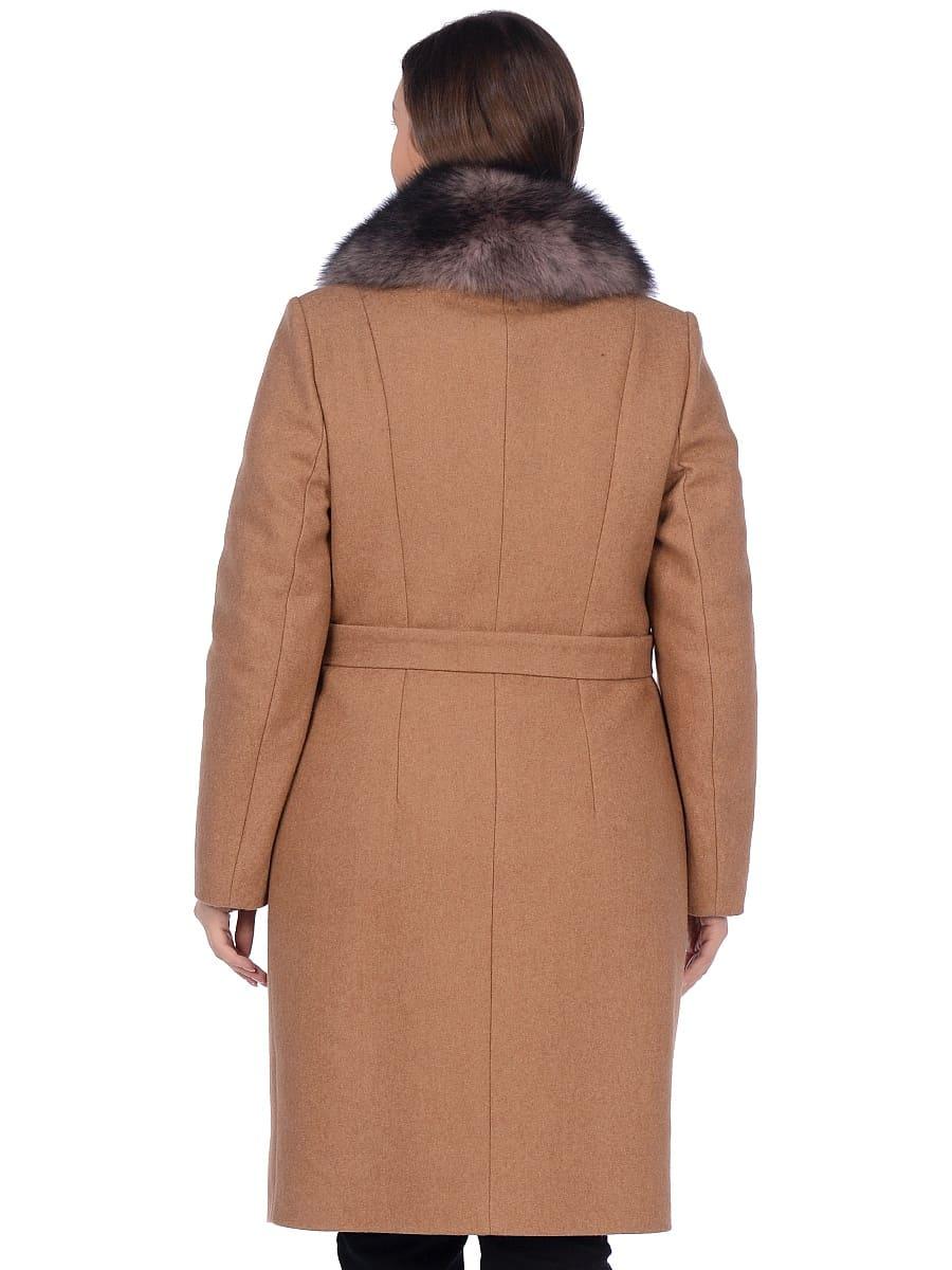 Женское зимнее пальто hr-1009-2 песочное фото-3