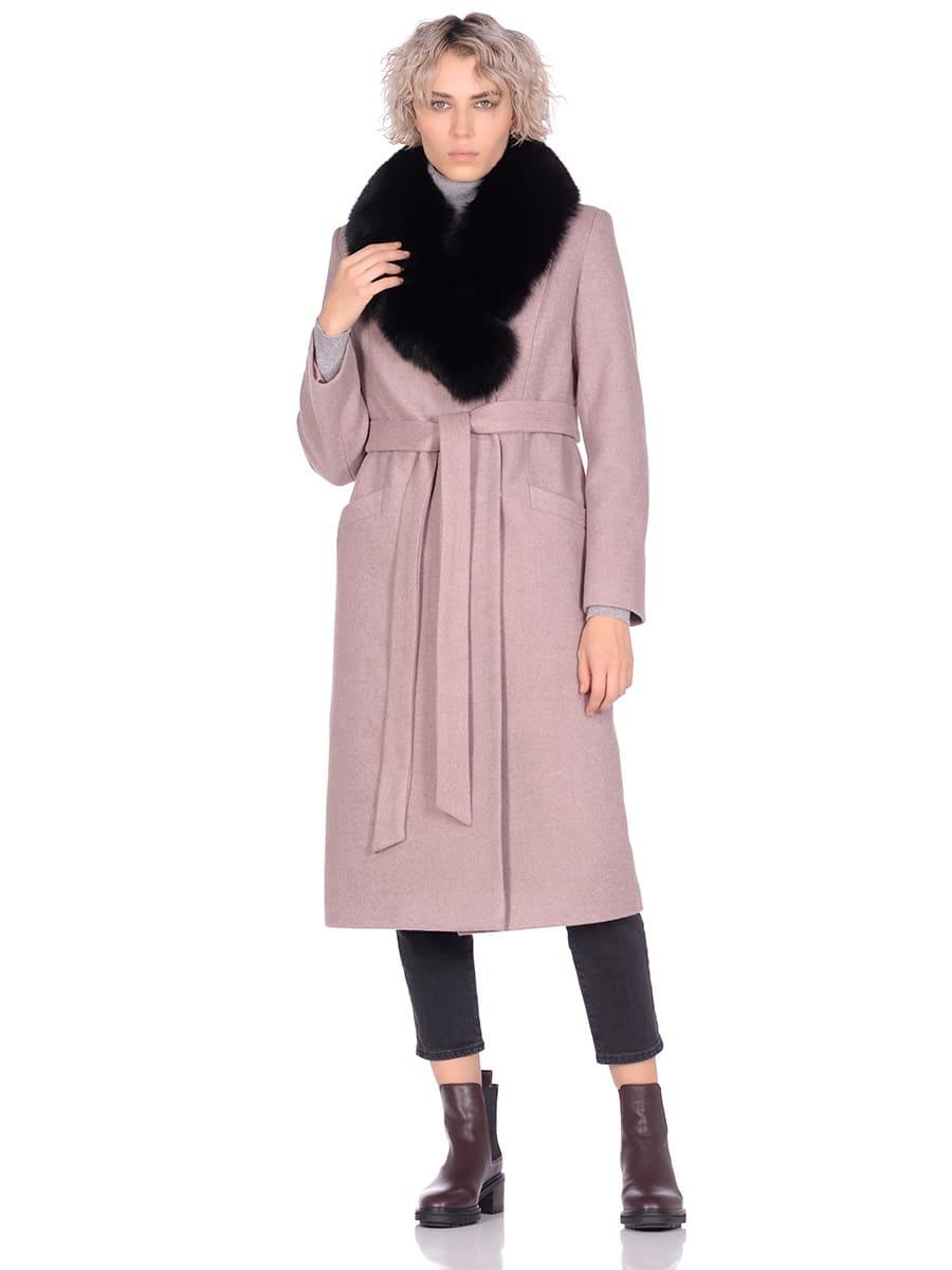 Женское зимнее пальто hr-014a бежевое фото-1