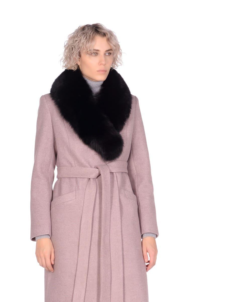 Женское зимнее пальто hr-014a бежевое фото-2