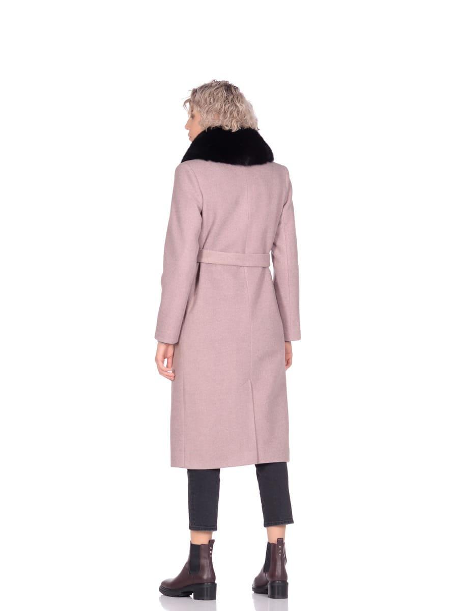 Женское зимнее пальто hr-014a бежевое фото-3