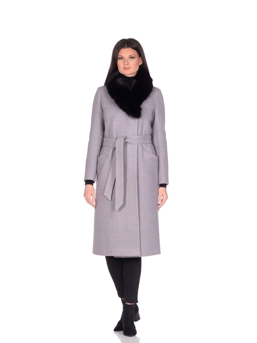 Женское зимнее пальто hr-014a серое фото-1