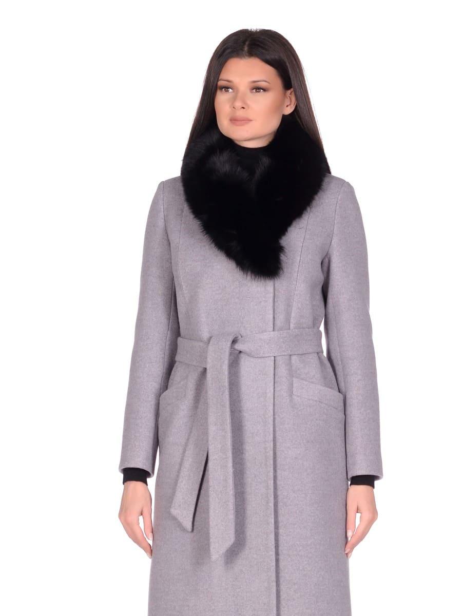Женское зимнее пальто hr-014a серое фото-2